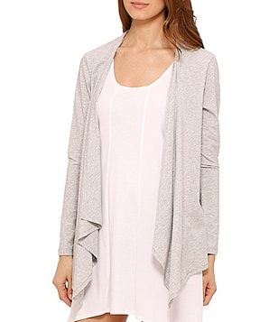 DKNY Long-Sleeve Cozy Pima Cotton Cardigan