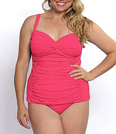 La Blanca Plus Sweetheart Tankini Top and TummyControl Bottom #Dillards