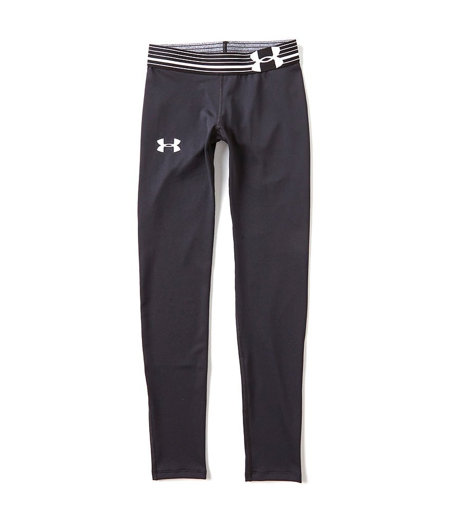 Under Armour Big Girls 7-16 HeatGear Armour Solid Leggings