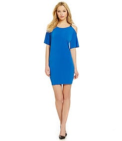 MICHAEL Michael Kors Cold Shoulder Matte Jersey Dress
