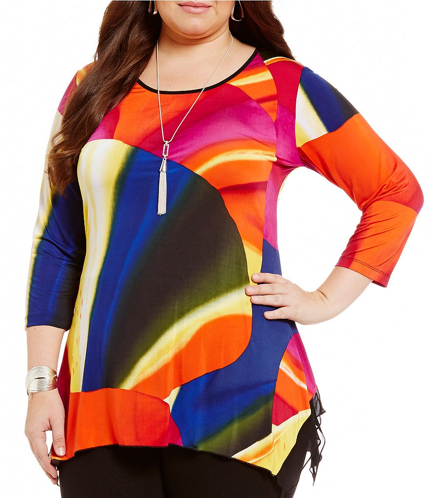 Peter Nygard Plus Printed Tunic