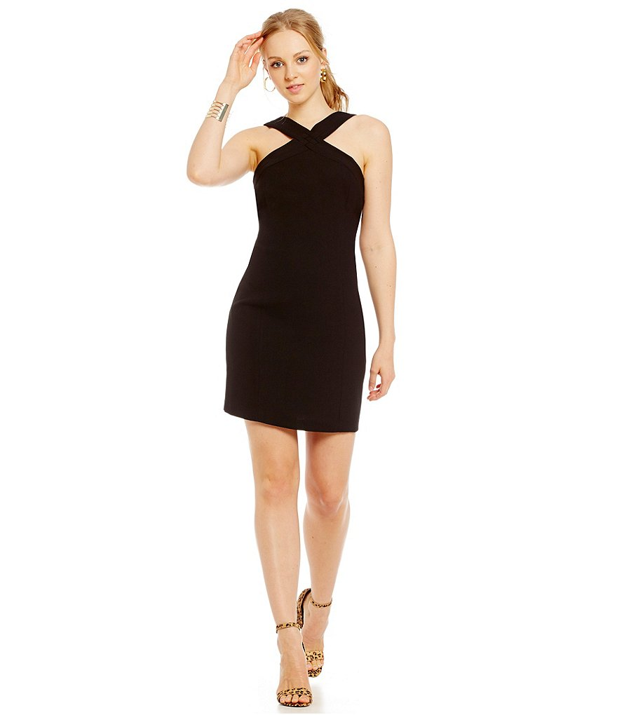 Laundry By Shelli Segal X-Front Sheath Dress