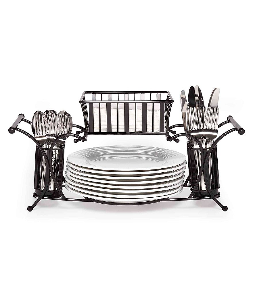 Gourmet Basics by Mikasa Band and Stripe Buffet Caddy