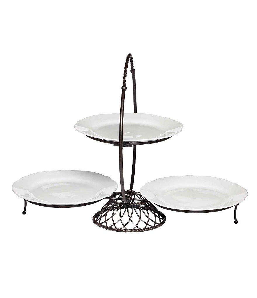 Gourmet Basics by Mikasa 3-Tier Wire Buffet Server