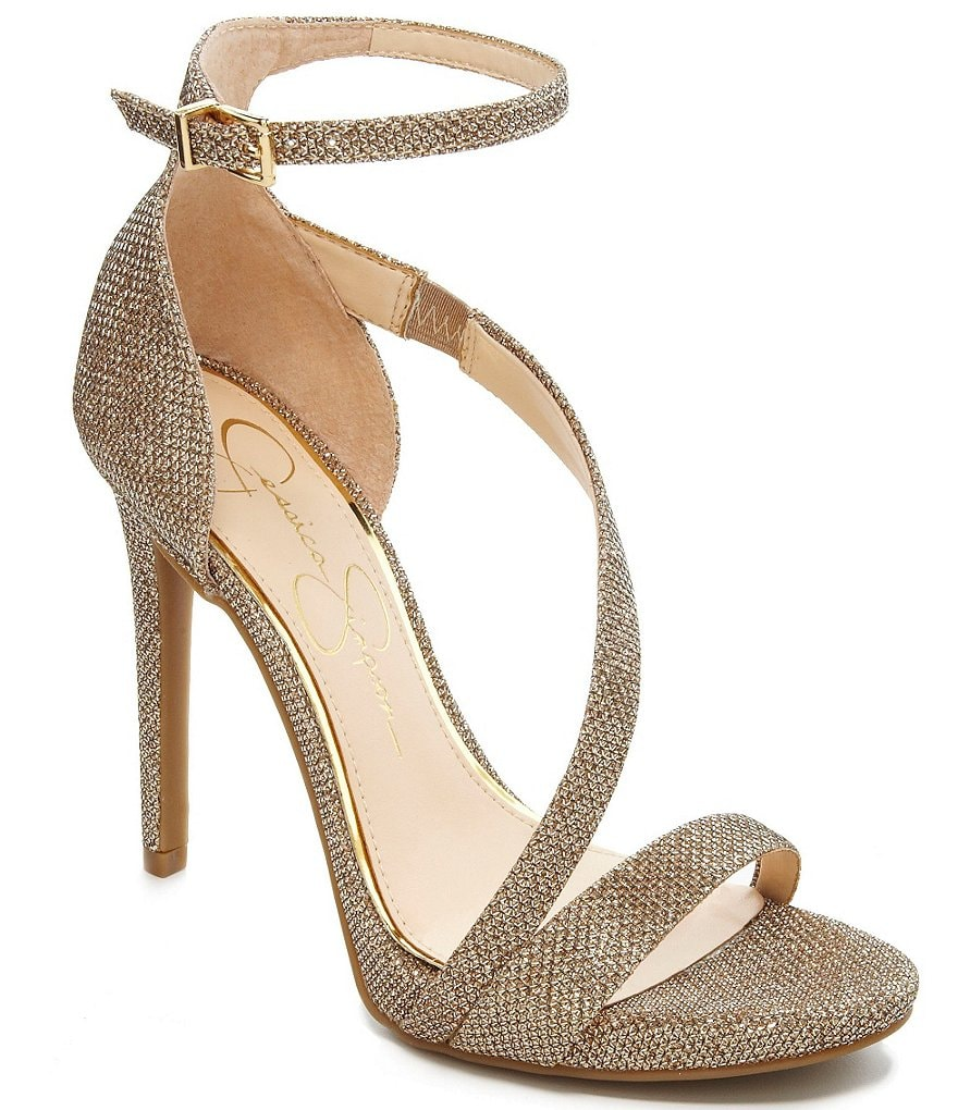 Jessica Simpson Rayli Beaded Ankle-Strap Dress Sandals