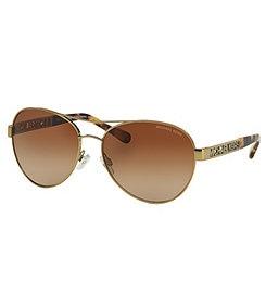 Michael Kors Cagliari Aviator Sunglasses