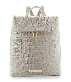 Brahmin Melbourne Collection Darcy Croco Embossed Backpack