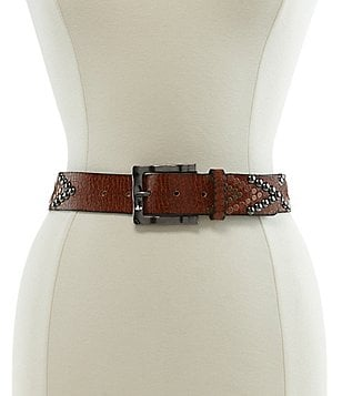 Reba Distressed Studded Belt