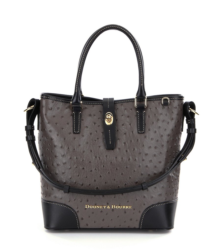 Dooney & Bourke Medium Cayden Ostrich Embossed Convertible Tote
