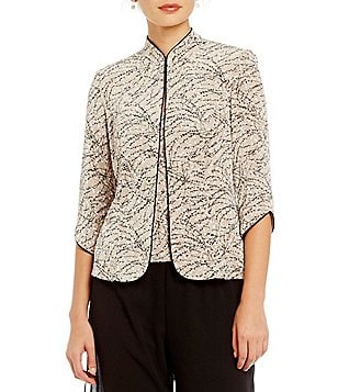 Alex Evenings Petite Printed 3/4 Sleeve Twinset
