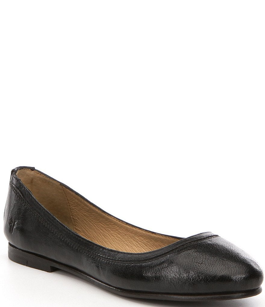 Frye Carson Antique Leather Slip-On Ballet Flats