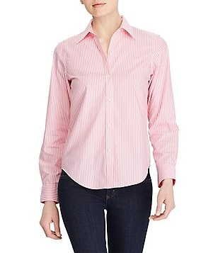 Lauren Ralph Lauren Wrinkle-Free Striped Dress Shirt