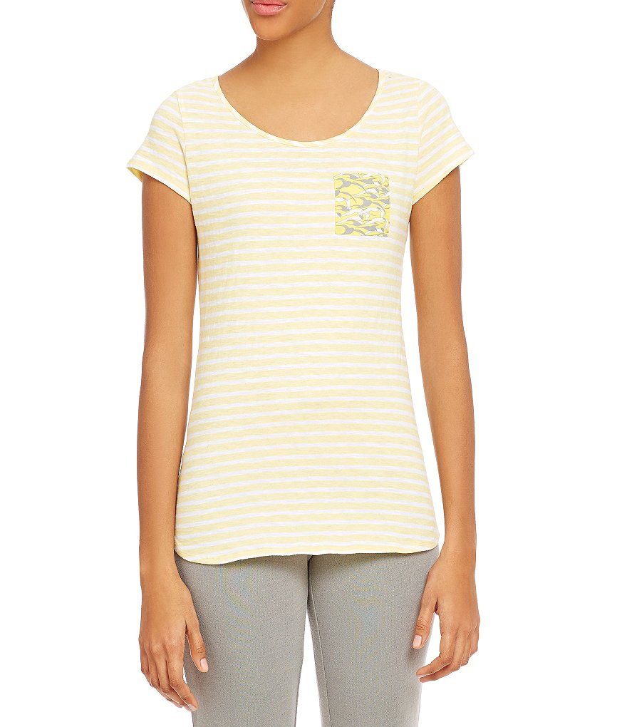 Jasmine & Ginger Short-Sleeve Cotton Top
