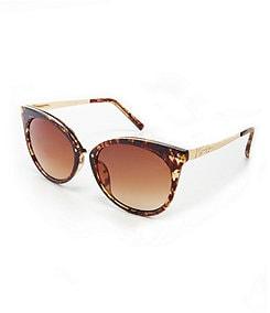 Jessica Simpson Metal Temple Cateye Sunglasses