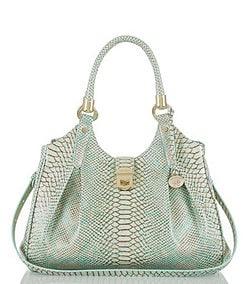 0ffe1126a5 ... Brahmin Opal Seville Collection Elisa Snake-Embossed Hobo Bag