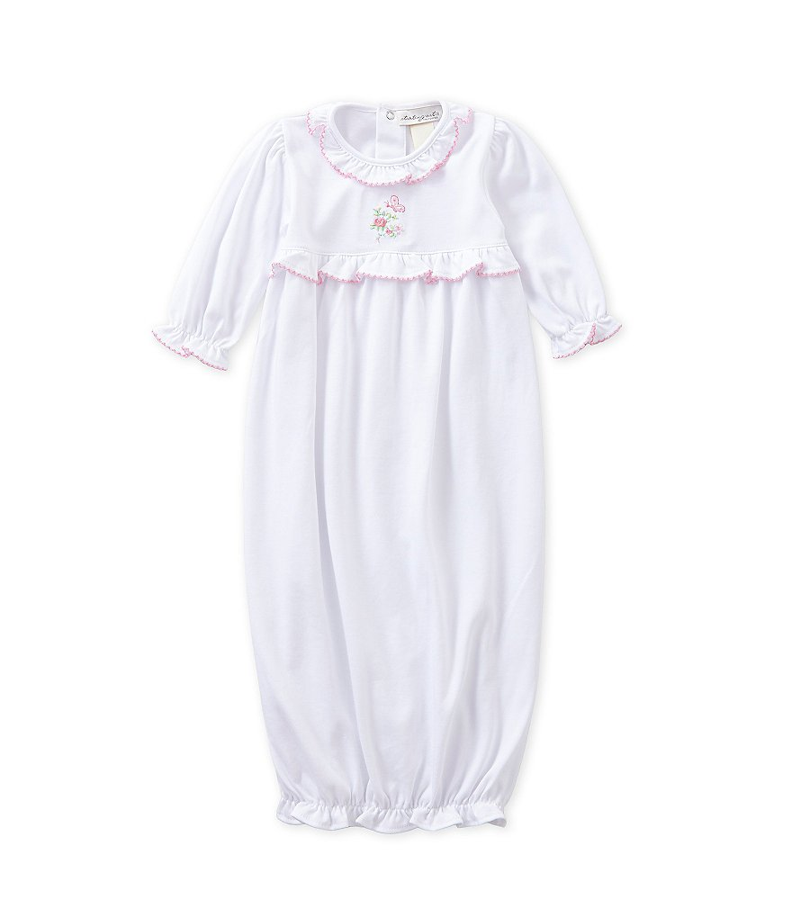 Starting Out Treasures Baby Girls Newborn Butterfly Gown