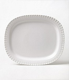 Southern Living Alexa Embossed Stoneware Oval Platter Image
