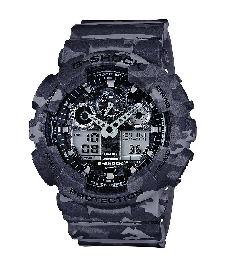 G-Shock Full Grey Camo Analog/Digital Watch
