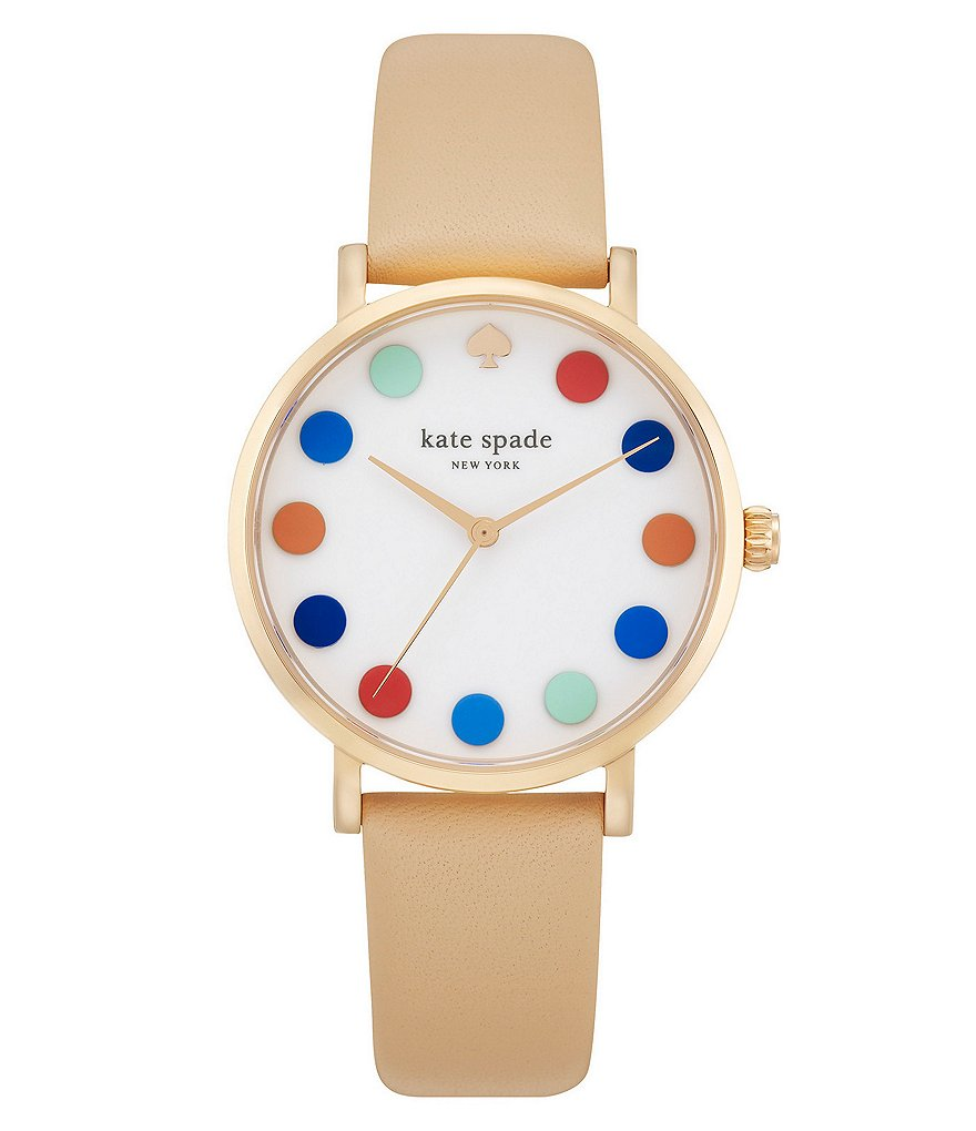 kate spade new york Metro Dotted Analog Leather-Strap Watch