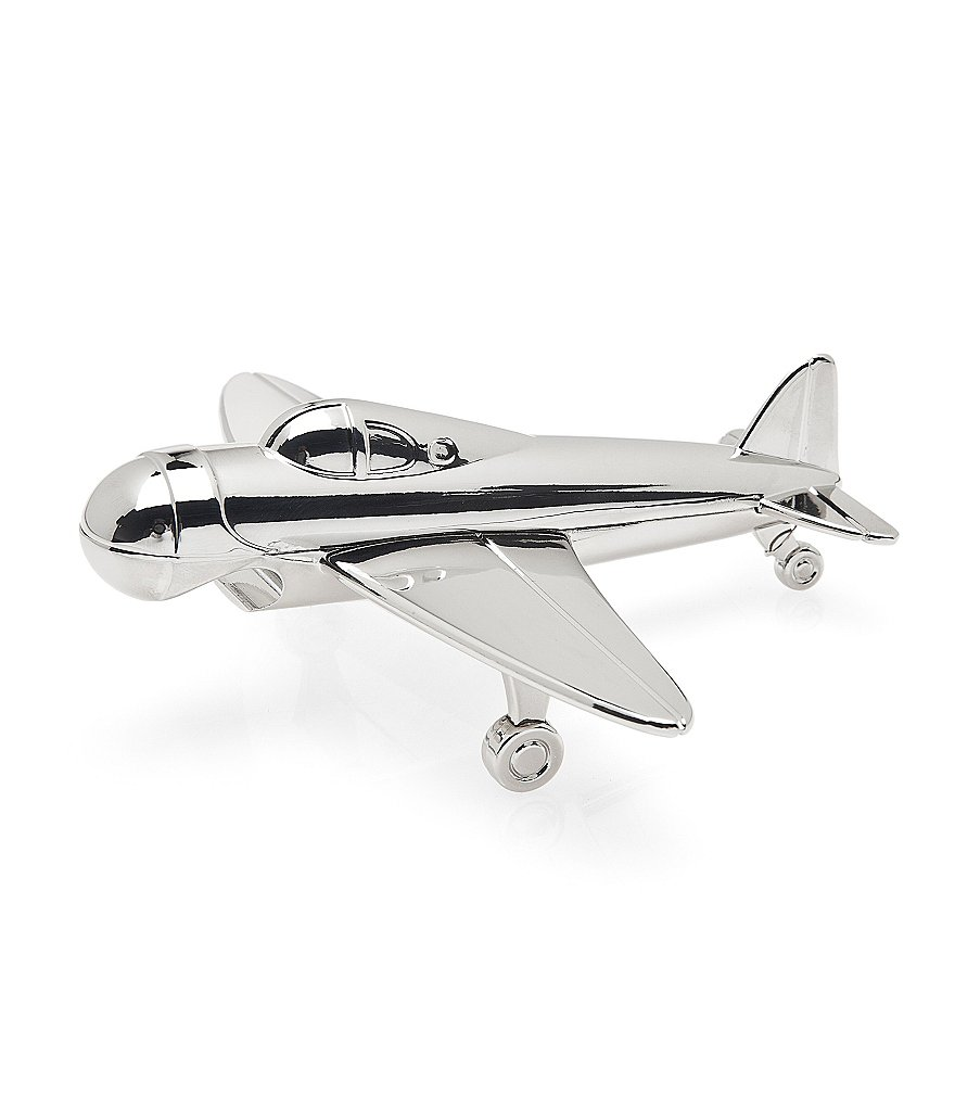 Godinger Aviators Tavern Nickel Airplane Bottle Opener
