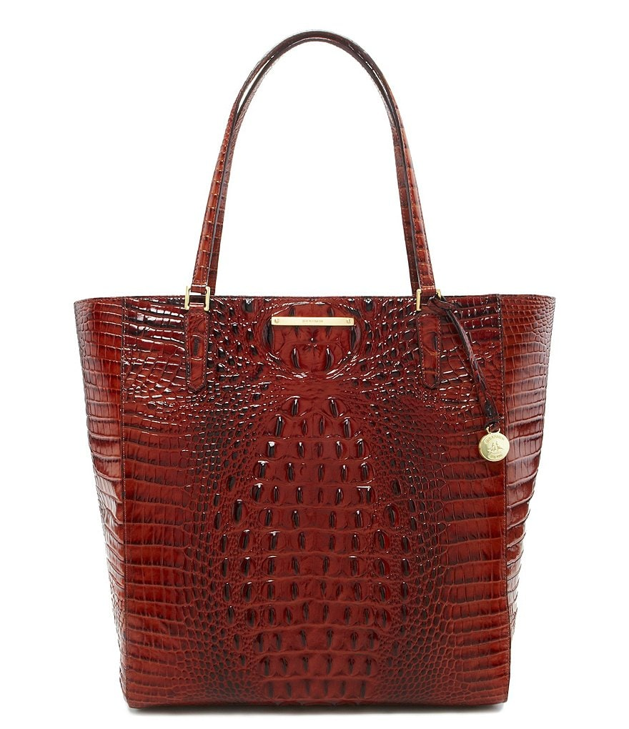 Brahmin Melbourne Collection Harrison Croco-Embossed Tote