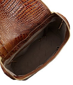 Brahmin Toasted Almond Collection Darcy Croco-Embossed Backpack