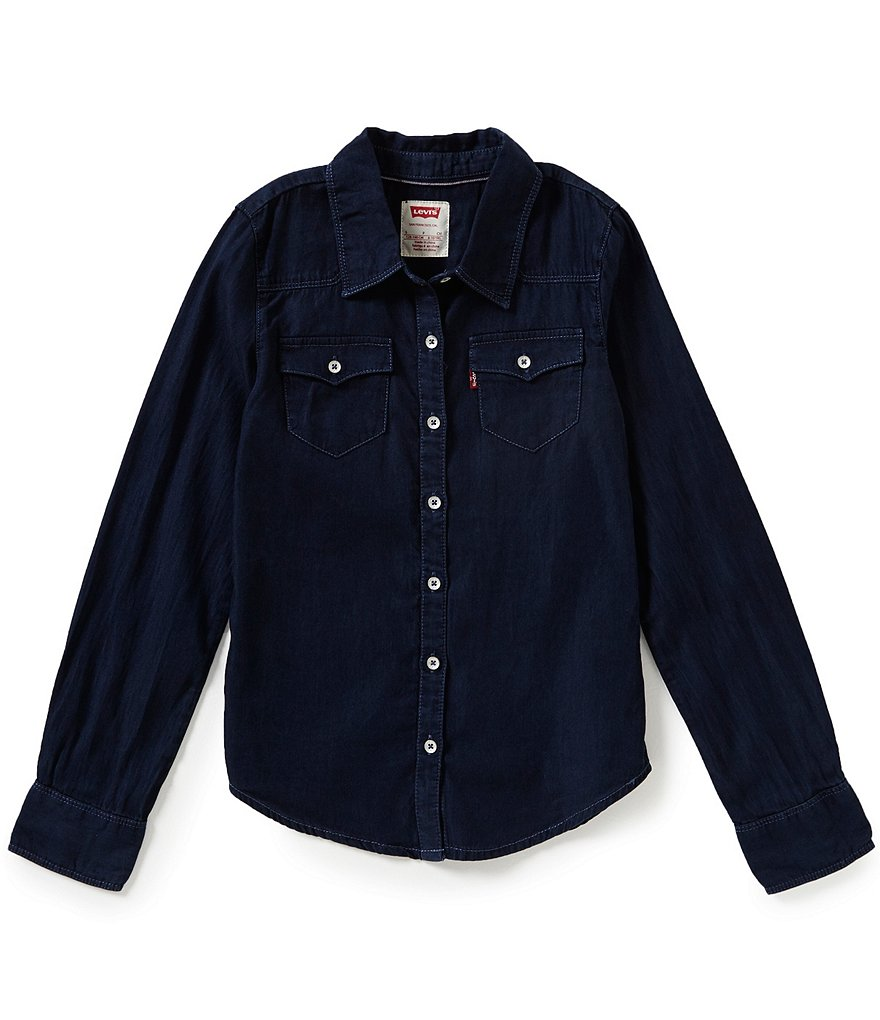 Levi´s Big Girls 7-16 The Western Long-Sleeve Denim Top