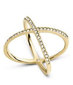 Michael Kors Delicate Pav� X Ring