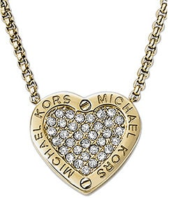 Michael Kors Status Logo Heart Pendant Necklace