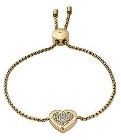 Michael Kors Delicate Status Logo Heart Slider Bracelet