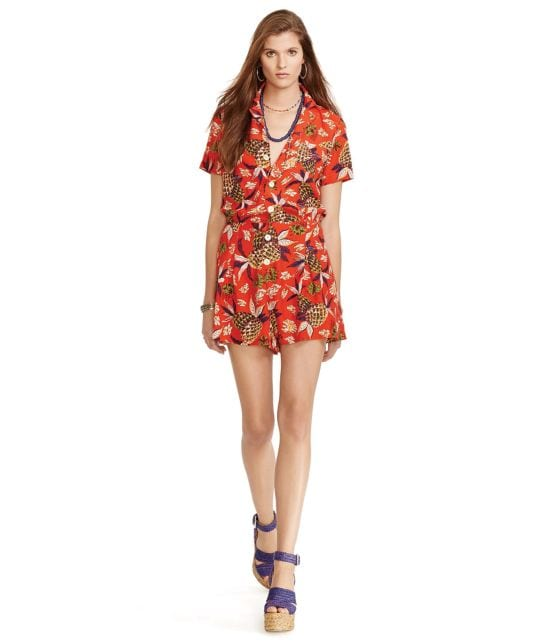 Polo Ralph Lauren Hawaiian Short-Sleeve Romper
