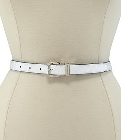 Michael Kors Reversible Logo Jet Set Embossed Patent Belt