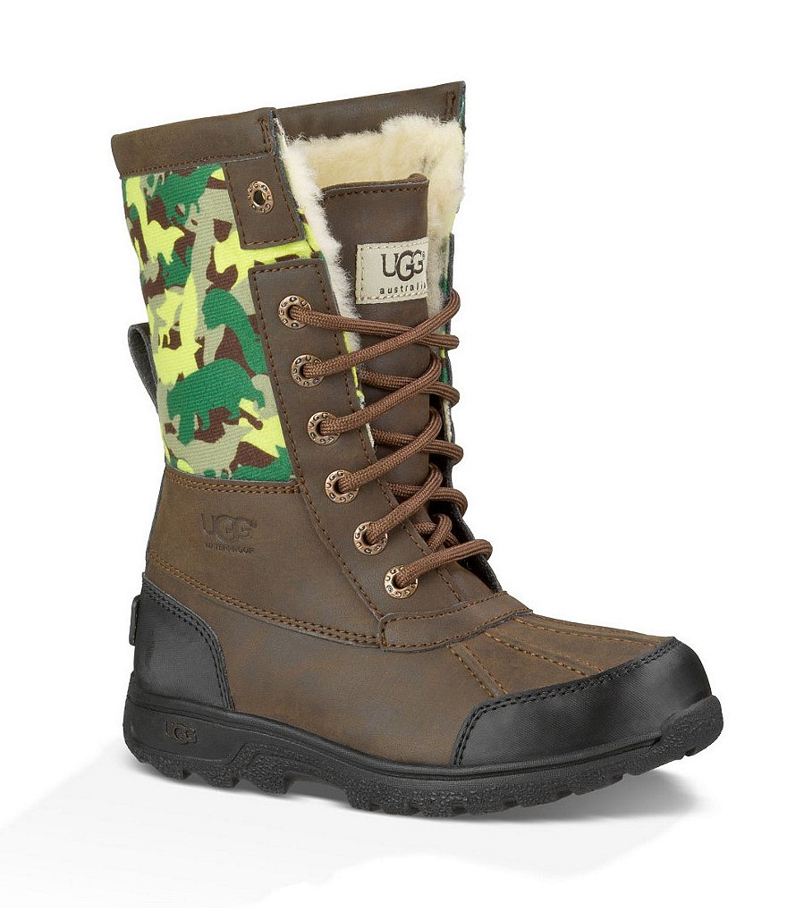 UGG® Butte II Backcountry Boys´ Camo Cold Weather Waterproof Boots