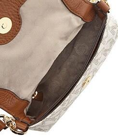 MICHAEL Michael Kors Signature Print Jet Set Flap Cross-Body Bag