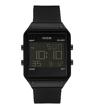 Guess Retro Ionic Plated Digital Silicone Strap Watch