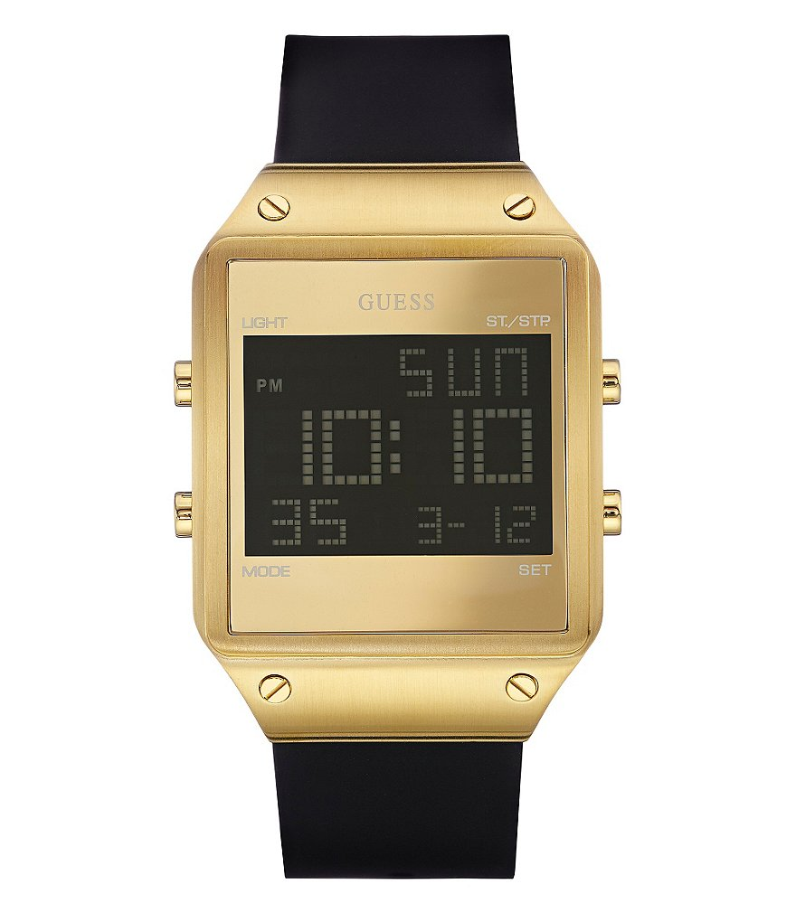 Guess Men´s Digital Silicone Strap Watch