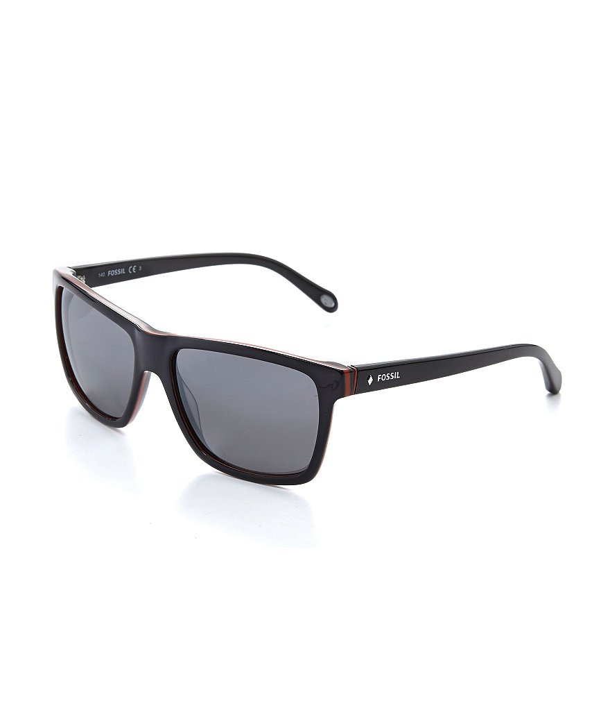 Fossil Rectangle Mirror Lens Sunglasses