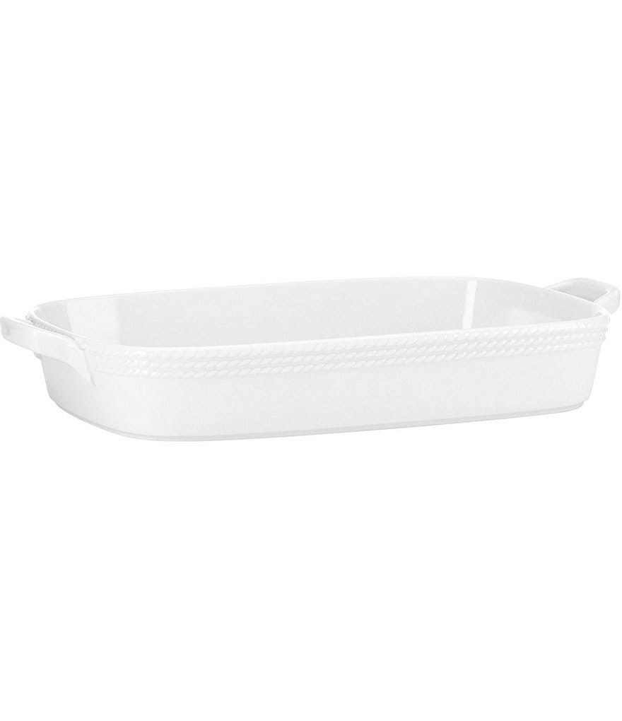 kate spade new york Wickford Rope-Embossed Porcelain Rectangular Baker