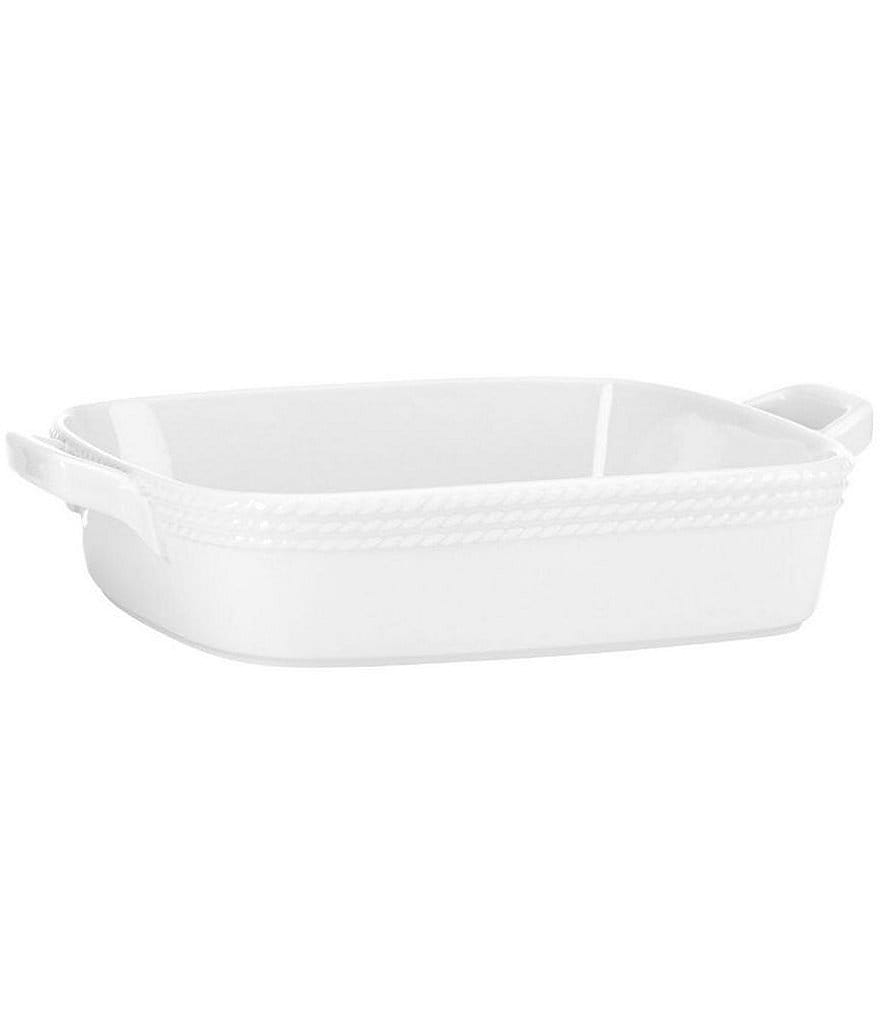 kate spade new york Wickford Rope-Embossed Porcelain Square Baker