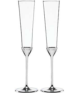 kate spade new york Take the Cake To Have & To Hold Wedding Toast Flute Pair