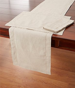 Southern Living Hem-Stitched Cotton Table Linens
