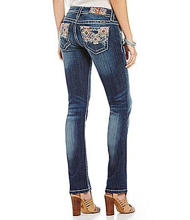 Miss Me Embellished Straight-Leg Jeans
