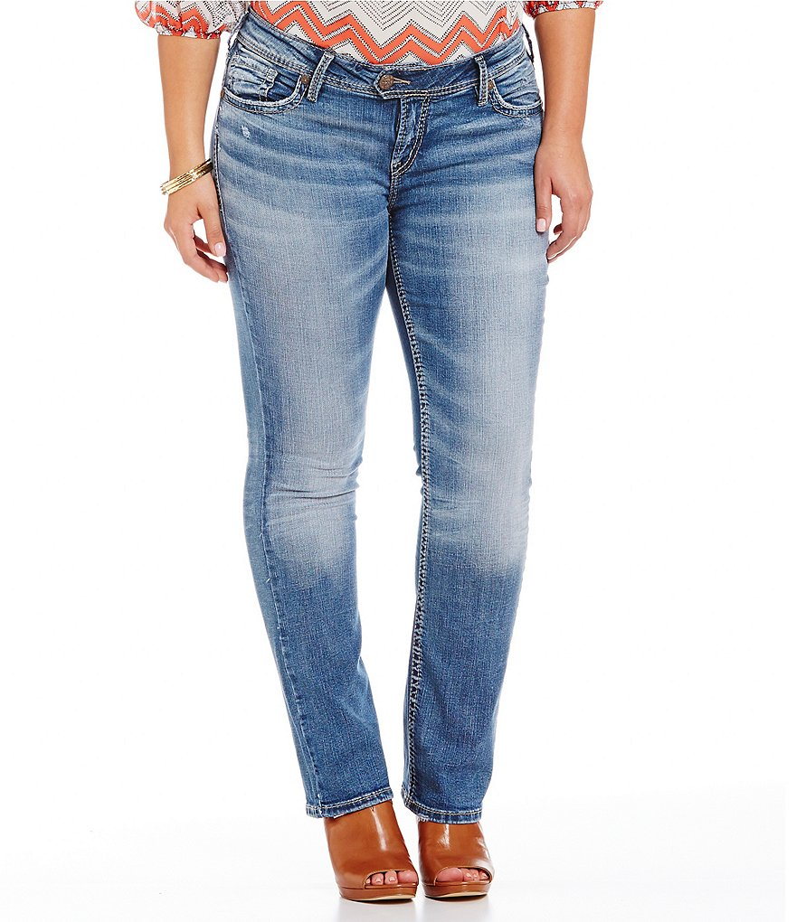 Silver Jeans Co. Plus Tuesday Mid Baby Bootcut Jeans