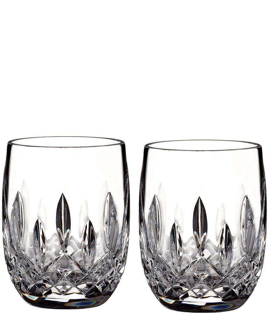Waterford Lismore Crystal Rounded Tumbler Pair