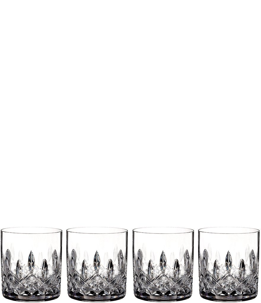 Waterford Lismore Crystal Straight Tumblers, Set of 4