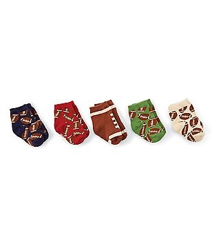 Mud Pie Baby Boys Sports Football 5-Pack Sock Set