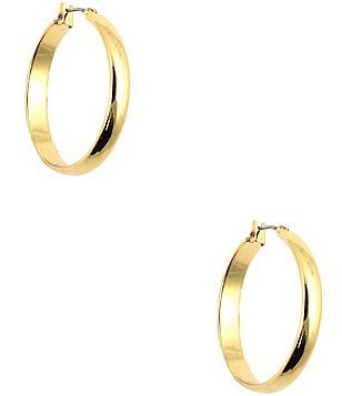 Anne Klein Wide Band Hoop Earrings