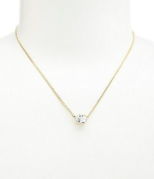 Givenchy Crystal Pendant Necklace