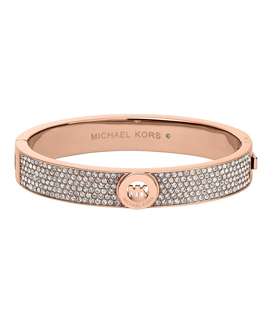 Michael Kors Fulton Pavé MK Hinge Bangle