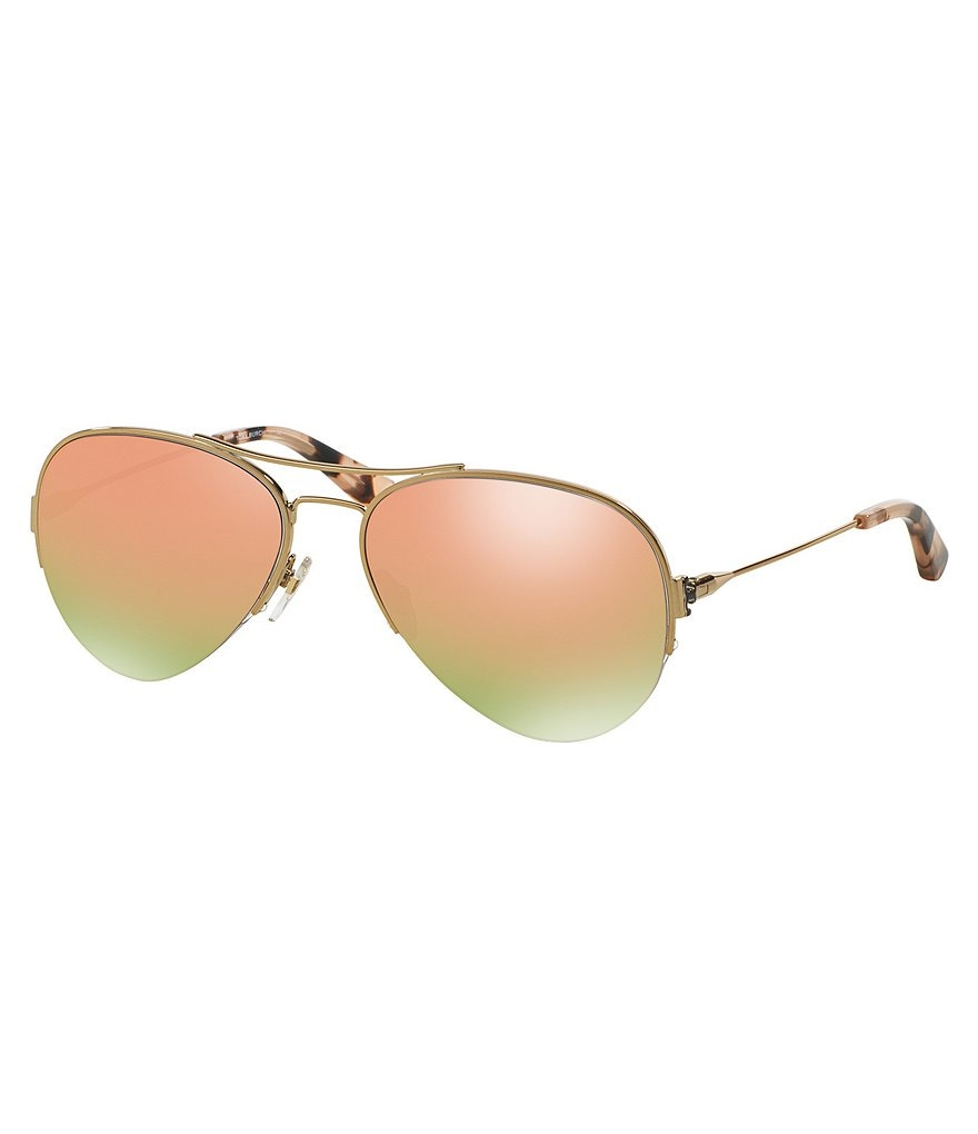 Tory Burch Classic Mirrored Aviator Sunglasses